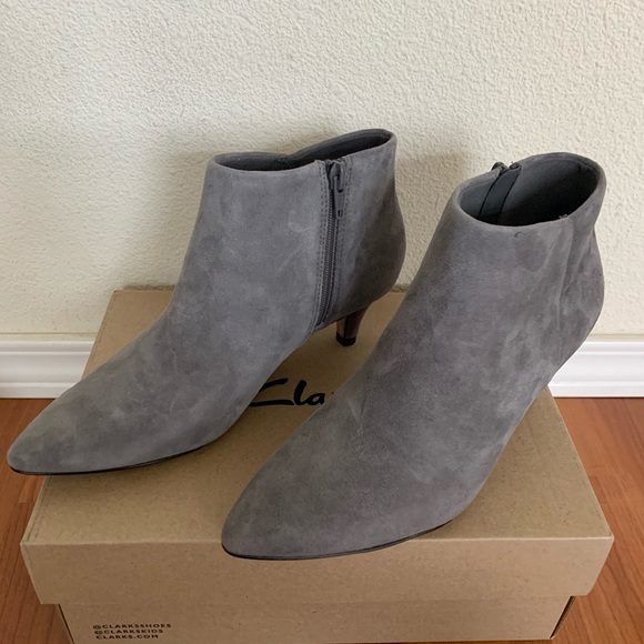 Clarks Linvale Sea Grey Suede Ankle